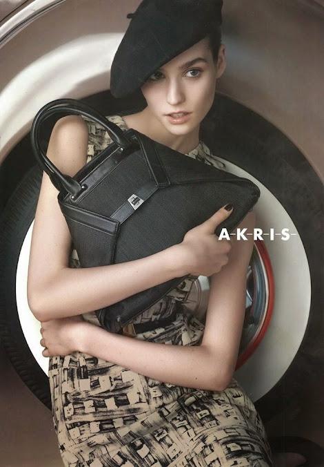 Akris Pre Fall 2014, campaña: Manon Leloup