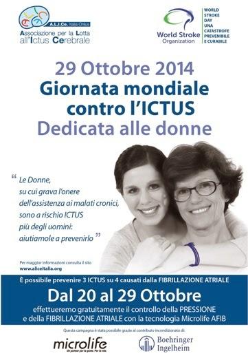 Ictus: un nemico speciale per le donne. Il 29 ottobre è la Giornata Mondiale
