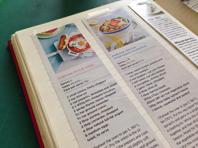 making your own recipe book