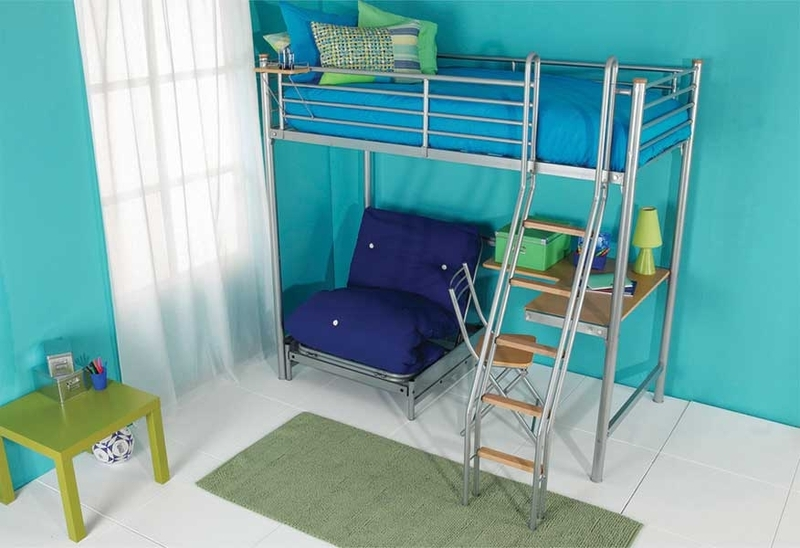 Bedroom Design Decor Metal Bunk Beds With Desk