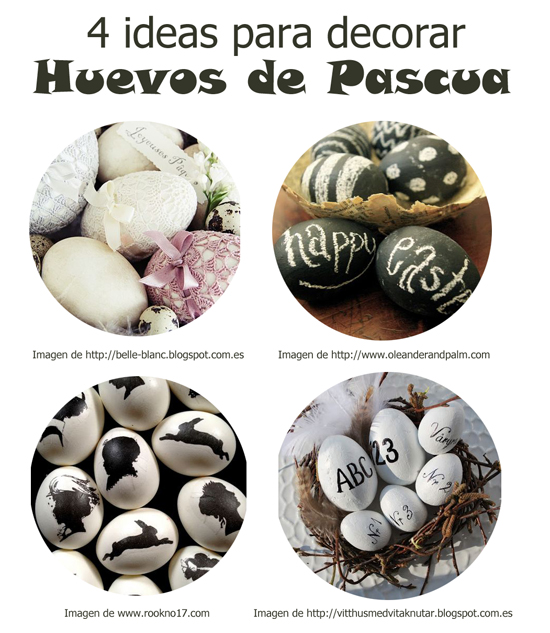 Cuatro tendencias para decorar huevos de Pascua.