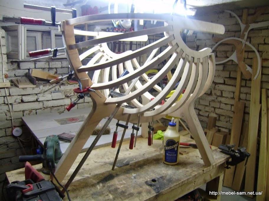 Склейка фанерного кресла