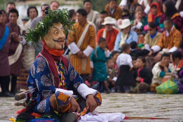 Bailarín del festival de Paro, Bután