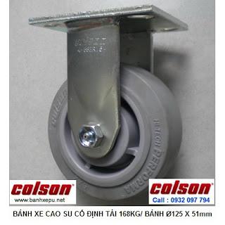Bánh xe cao su lăn không tạo tiếng ồn Colson phi 125 | 4-5108-459