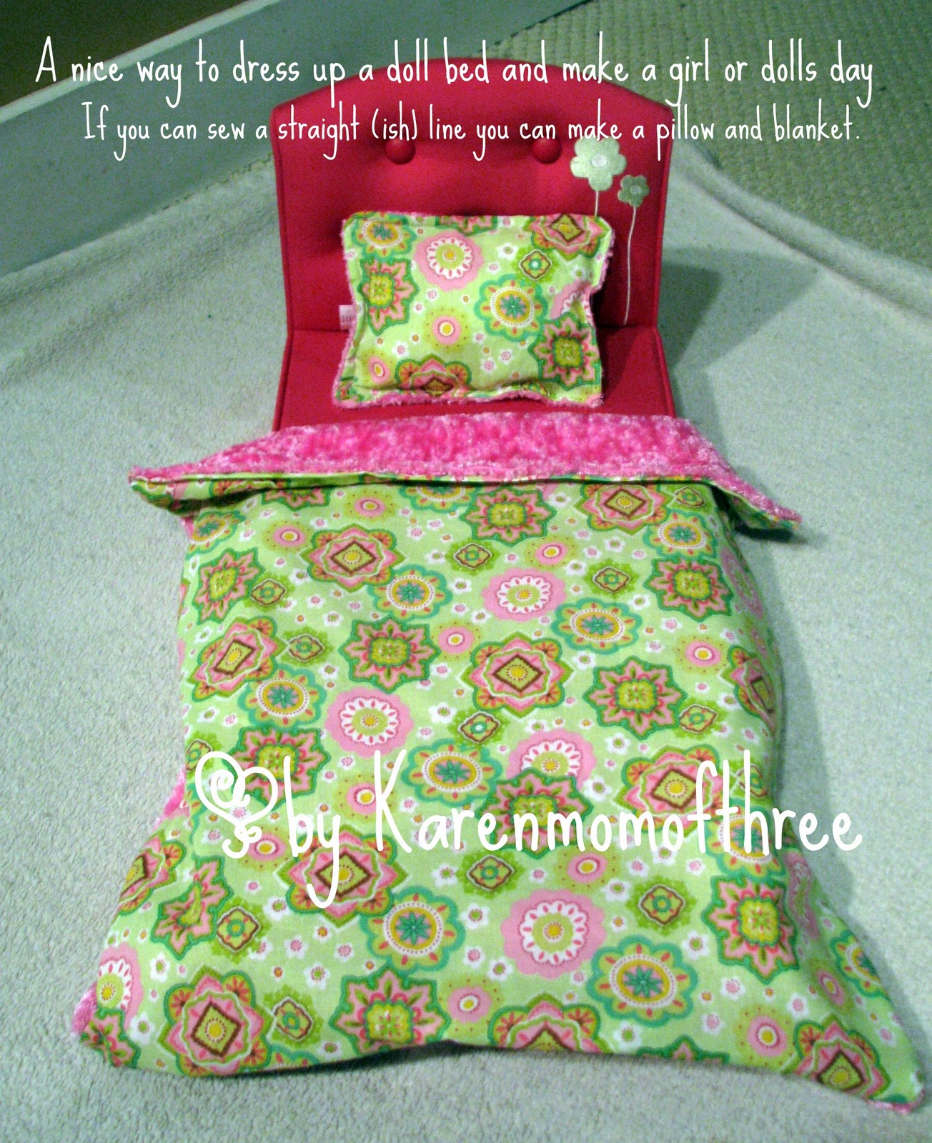 karen mom of three s craft blog make a blanket and pillow for your