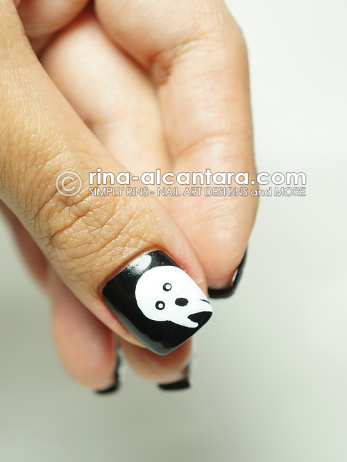 Not So Spooky Ghosts Halloween Nail Art Design