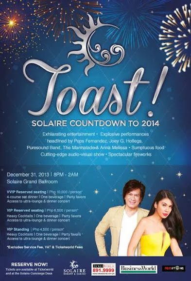 Toast! Solaire Countdown to 2014 Ticket Prices  Toast! Solaire Countdown to 2014   Ticket Prices