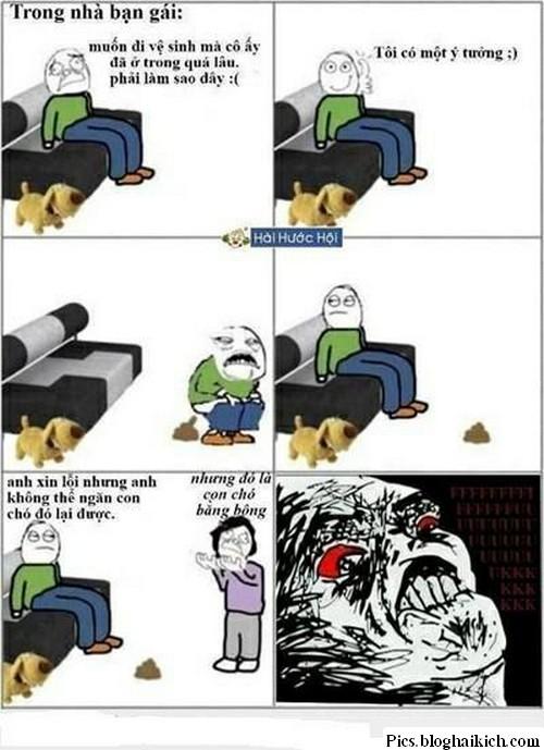 Troll vui hài: Ị bậy trong nhà bạn gái