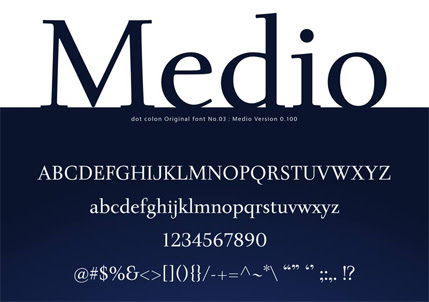 25+ Ultimate Collection of High Quality Free Fonts For Designers- Medio