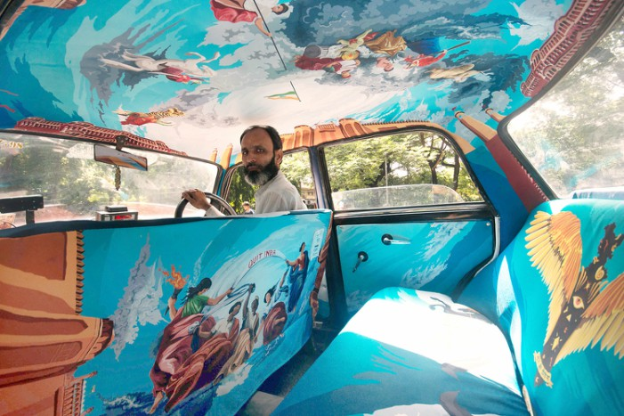 Taxi Fabric Turns Cabs into Traveling Art