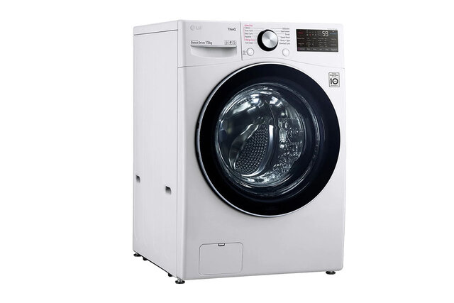 Máy giặt sấy 2 trong 1 LG Inverter 15 kg F2515RTGW thiết kế hiện đại, vận hành êm ái cho hiệu quả giặt sạch tối ưu