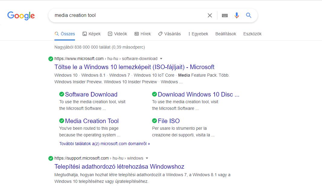 hogyan kell Windows 10-et telepíteni
