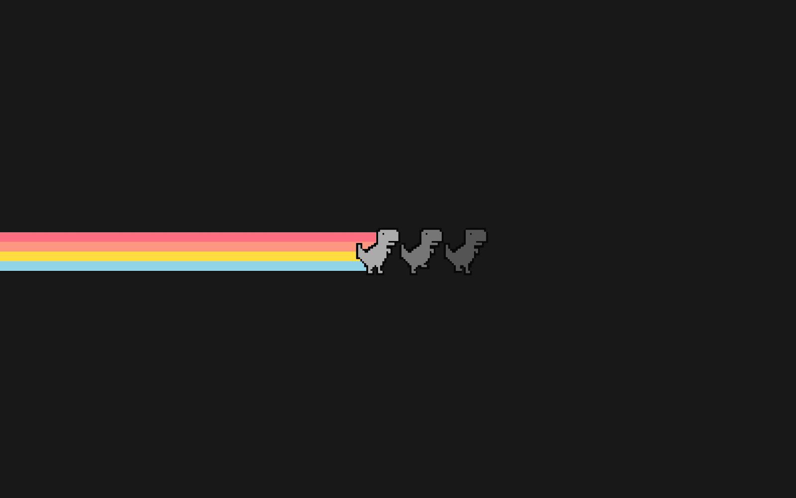 Fond d'écran du jeu du Dino de Google