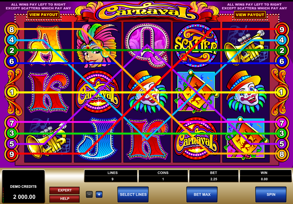 Play Carnaval Slots Game today!