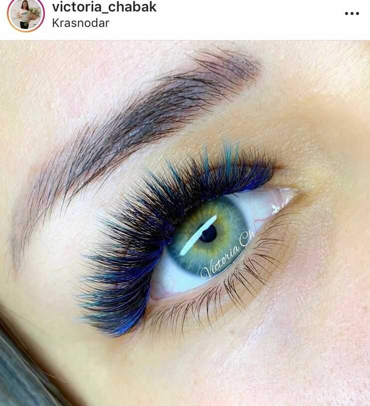 The Colored Eye Eyelash extension style guide
