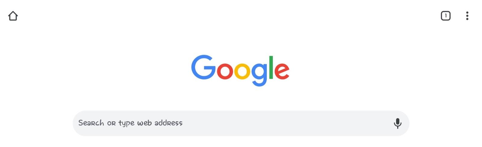 Google main page