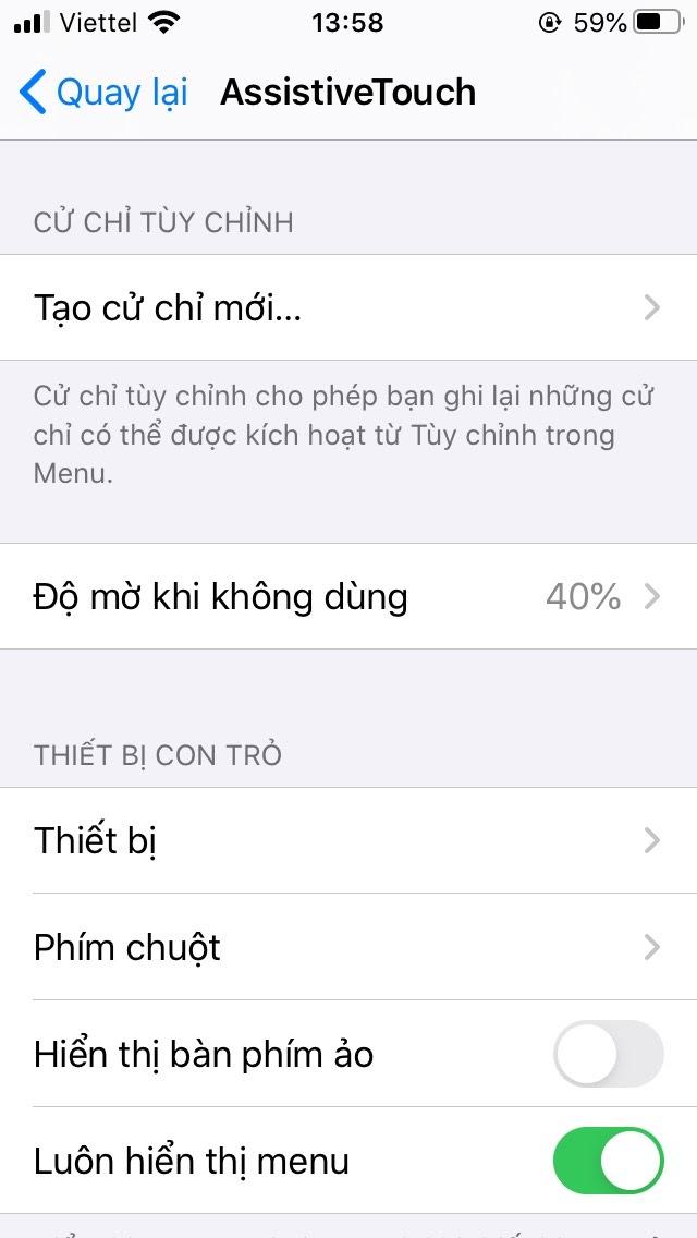 Hướng dẫn sử dụng phím Home Ảo trên iPhone