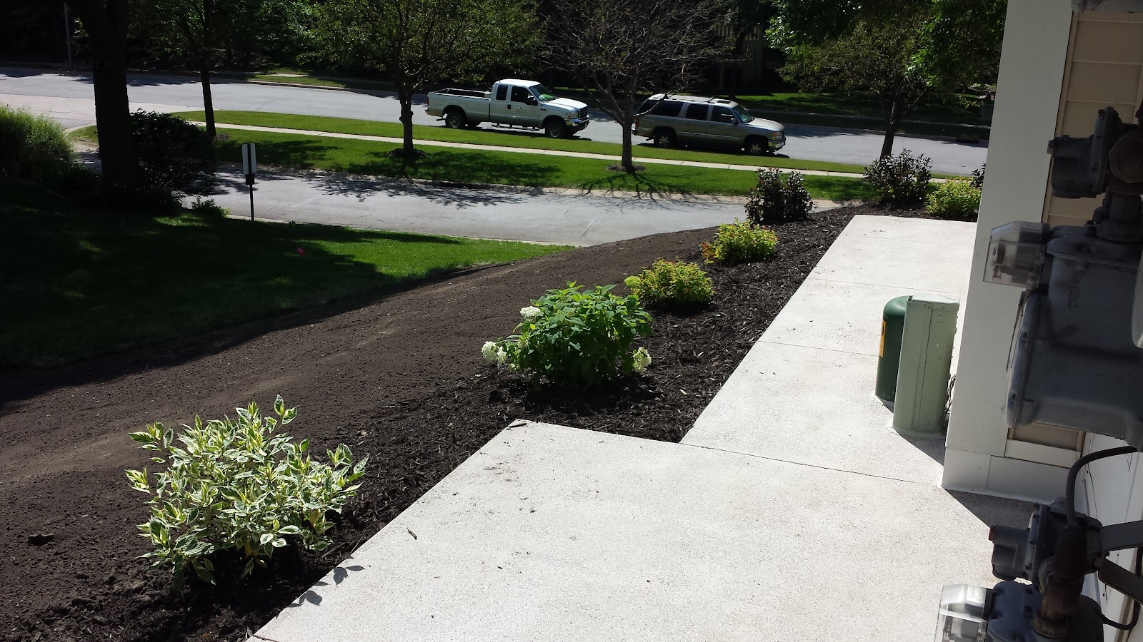 Positive slope and functional landscape design install