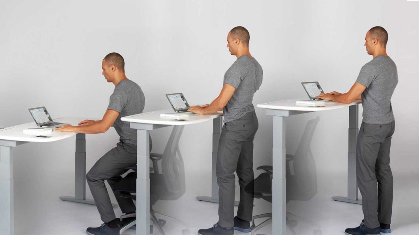 Sit to stand desk for home office