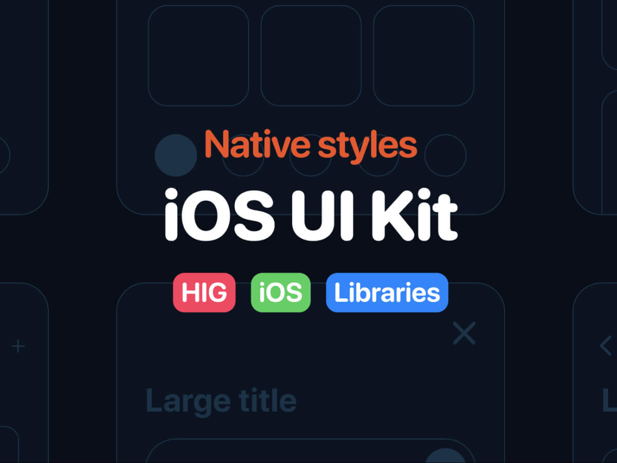 figma iOS ui kit