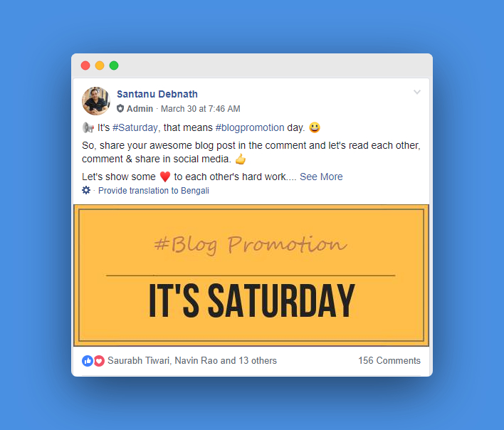 get traffic to new blog with Facebook Group Promotion