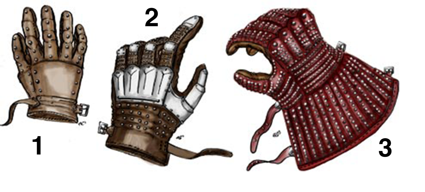 Reconstruction of brigandine gauntlets, Gotland 1929