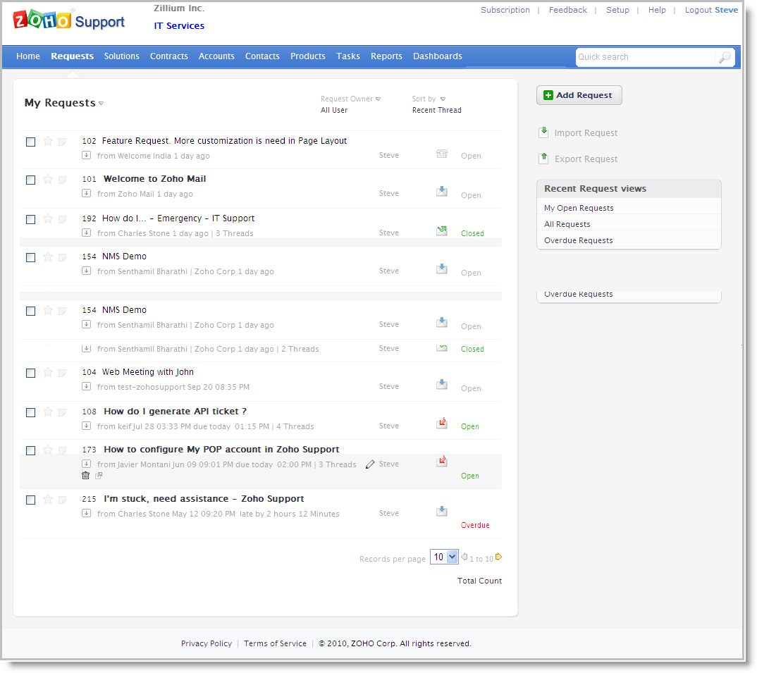 """Zoho Launches """"Zoho Support"""" for Cloud Based Customer"""