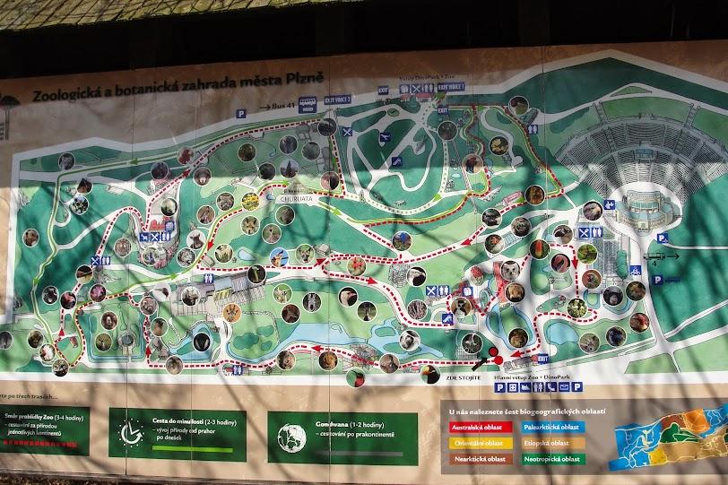 Mapa Zoo w Pilźnie