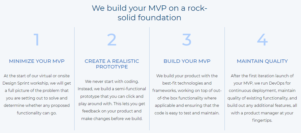 How to build your MVP on a rock solid foundation