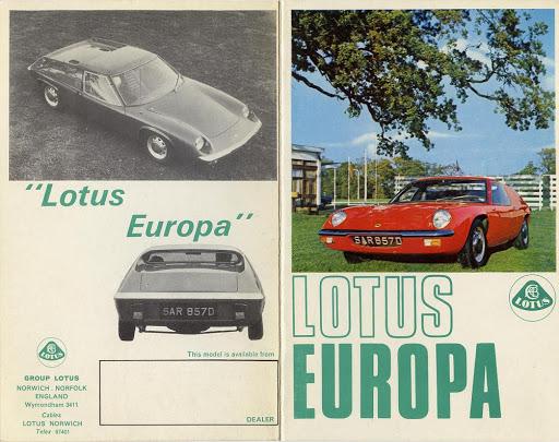 Lotus Europa Brochure Image