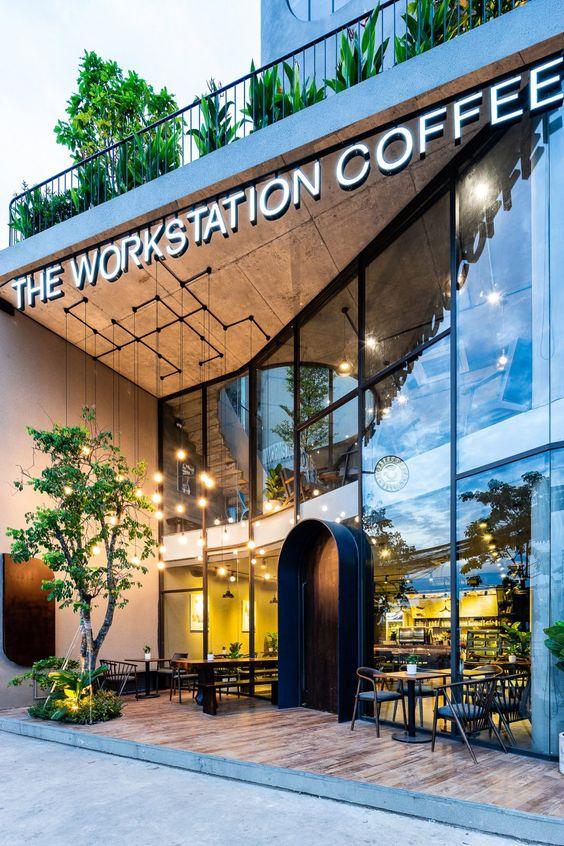 Thiết kế quán cafe sân vườn 80m2 theo phong cách Công nghiệp