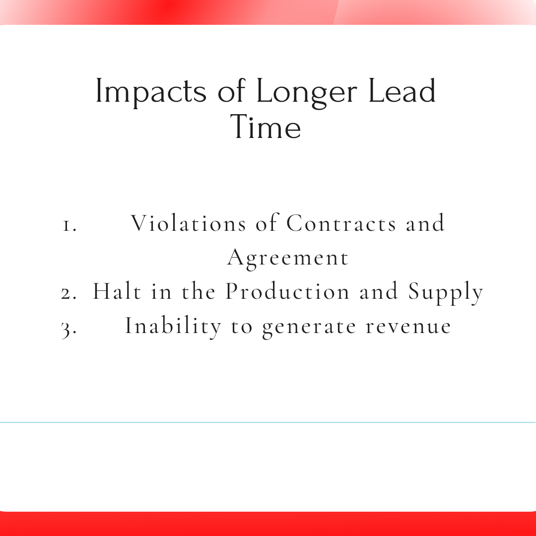 Impacts of longer lead time