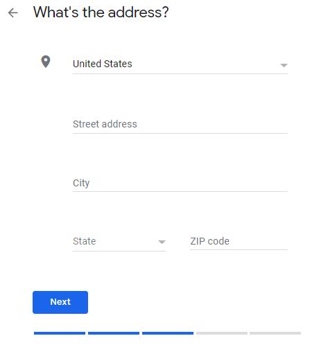 Google My Business - address