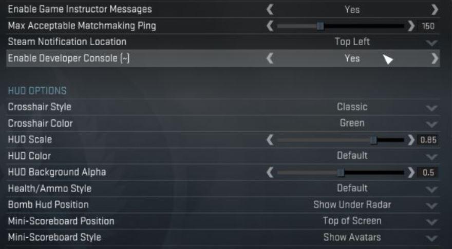 Kick Bots In CS: GO settings