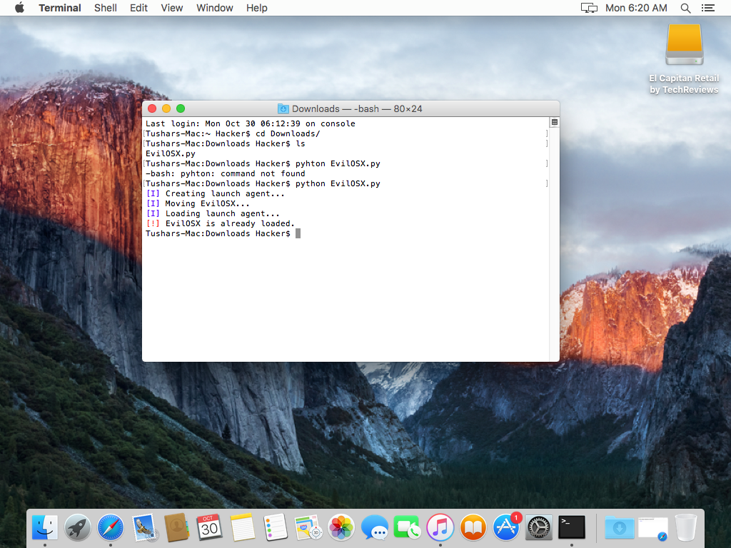 C:\Users\Tushar\Desktop\OS X 10.11 El Capitan-2017-10-30-18-50-18.png