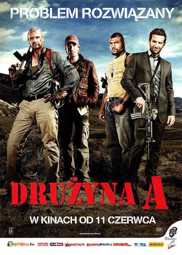 Przód ulotki filmu 'Drużyna A'