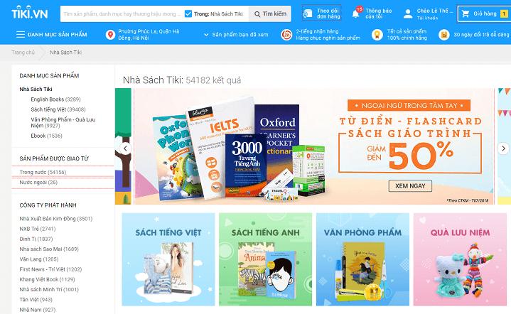 Sử dụng mã giảm giá Tiki sách và nhập vào bước thanh toán của nhà cung cấp sẽ giúp bạn tiết kiệm chi phí hơn