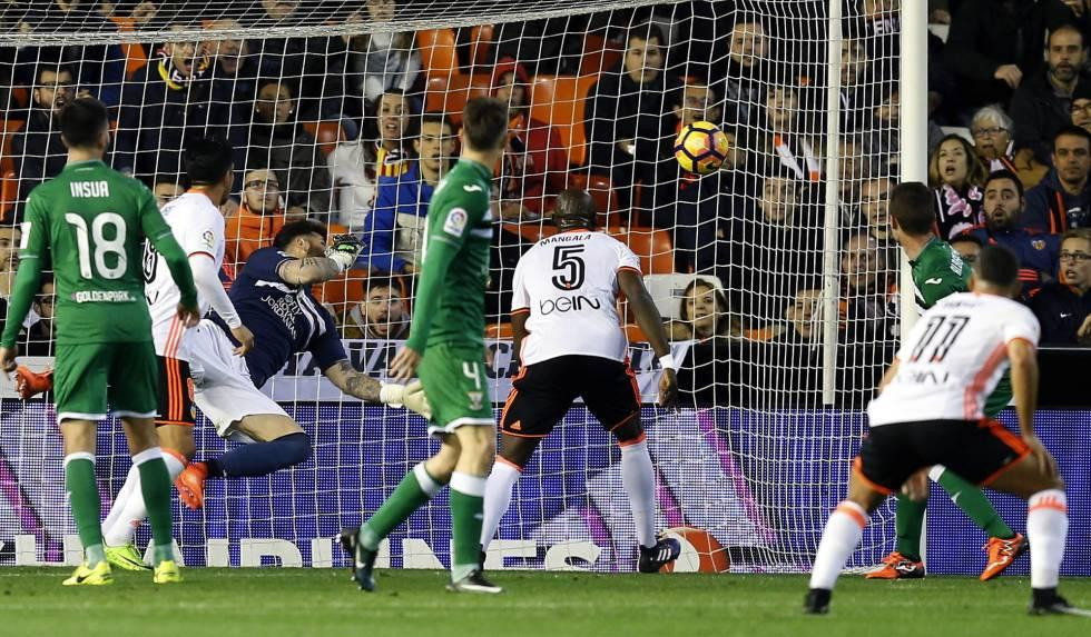 Resultado de imagen de valencia cf leganés gol de mangala