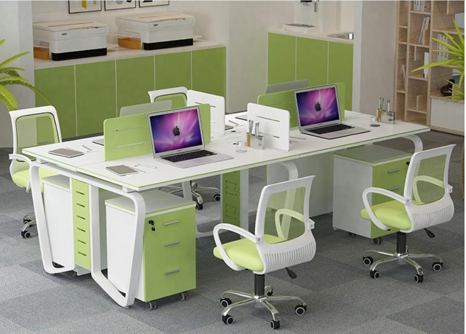 Image result for bàn ghế văn phòng phối màu