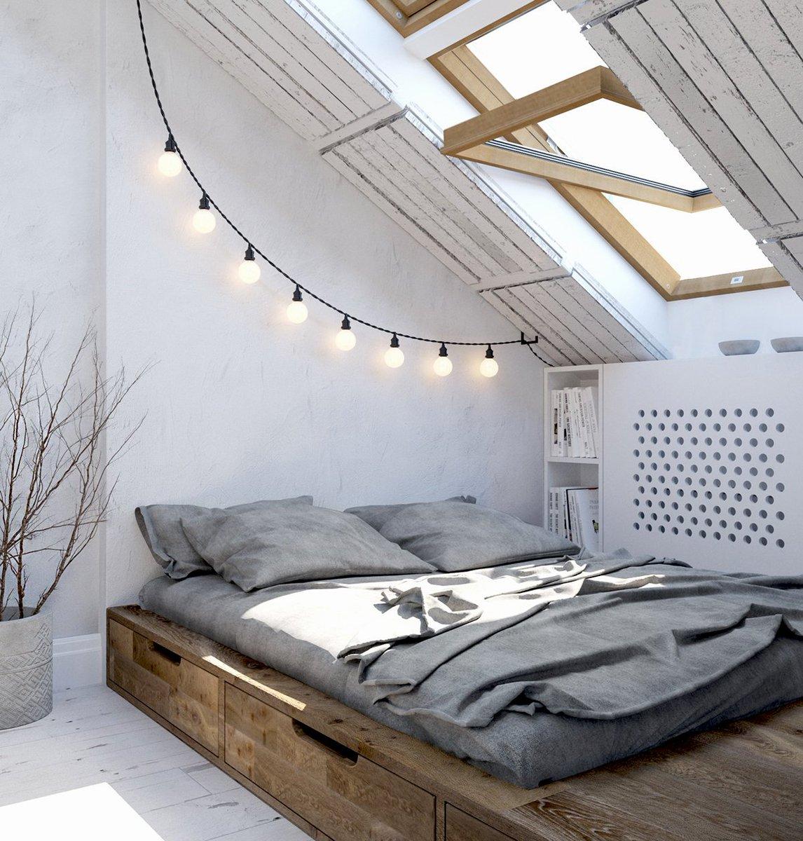 Scandinavian Attic room Ideas