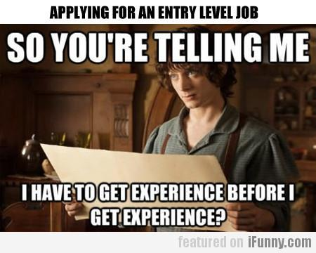 Applying For An Entry Level Job