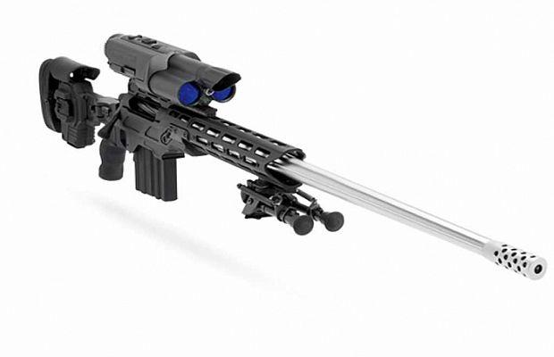 Cнайперская винтовка Bolt-Action .338 TPоснащена технологией высокоточного прицеливания, которая вычисляет расстояние доцели исоответственно оптимизирует винтовку. Стоит такое чудо 50 000 долларов.