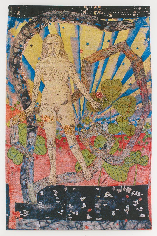 Kiki Smith Earth 2012 arazzo in cotone jacquard Oakland, California, Magnolia Editions  Per gentile concessione dell'artista e della Pace Gallery