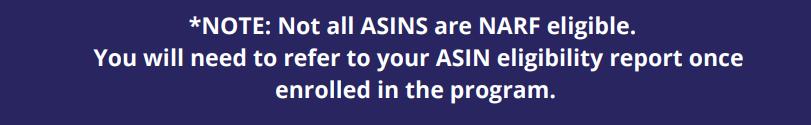 ASINS, note, report, eligibility, enroll, program