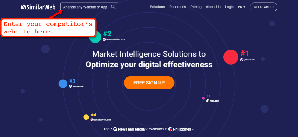 Similarweb Review | Search Box