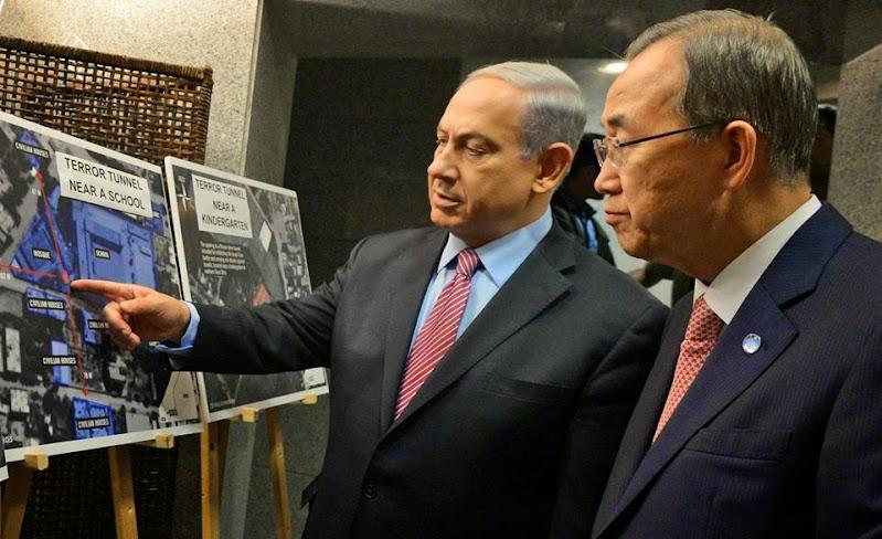 """بان كي مون يستنكر استخدام عناصر """"حماس"""" السكان المدنيين في غزة دروعاً بشرية"""