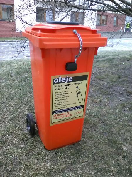 The oil recycling bin in Prague