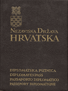 Croatian passport cover