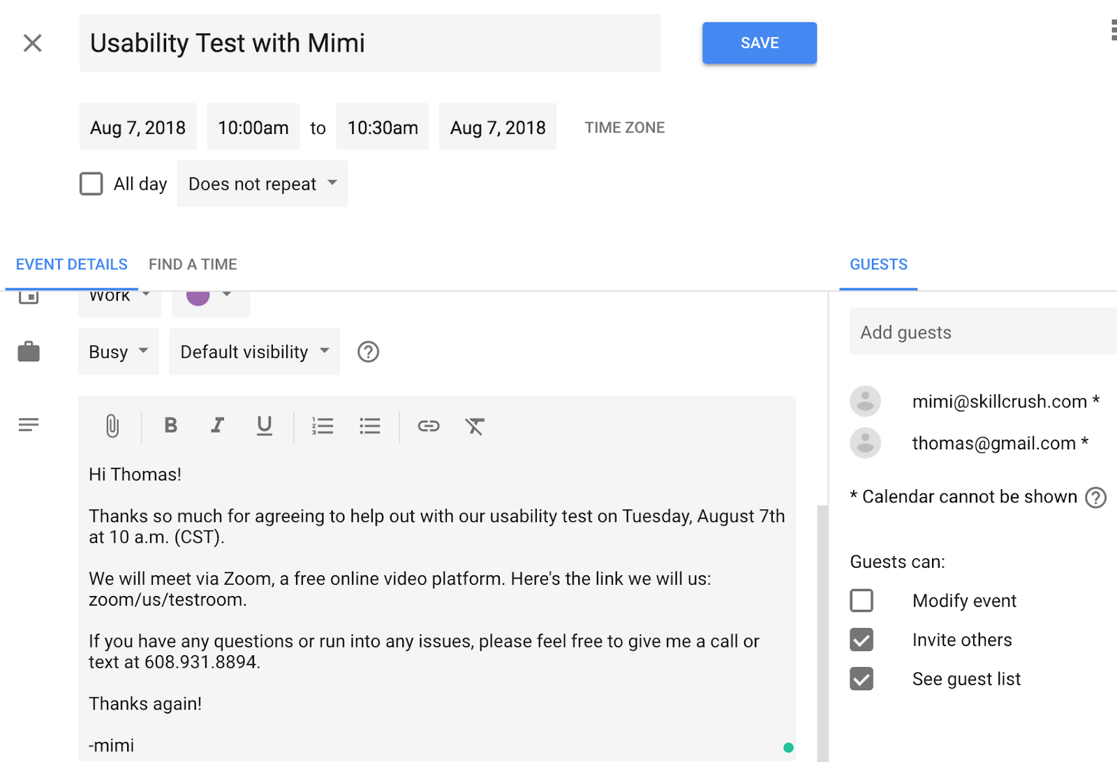 Create & Send an Invite with Google Calendar - Skillcrush FAQs