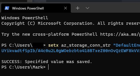 Microsoft Azure Blob Storage Command Line